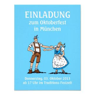 """Amor de los pares de Oktoberfest Munich de la Invitación 4.25"""" X 5.5"""""""