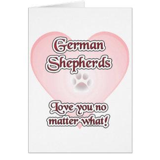 Amor de los pastores alemanes usted no importa qué tarjeta de felicitación