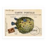 Amor de los pescados del vintage de Tropival Postal