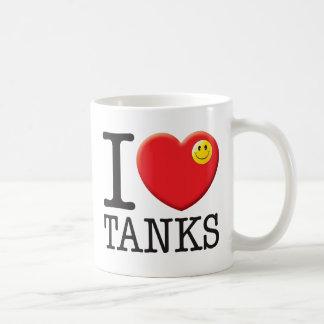 Amor de los tanques taza