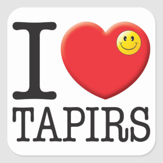 Amor de los Tapirs Pegatina Cuadrada