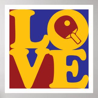 Amor de los tenis de mesa posters