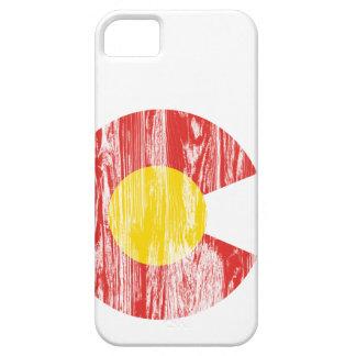 Amor de madera de Denver del grano de la bandera iPhone 5 Carcasa