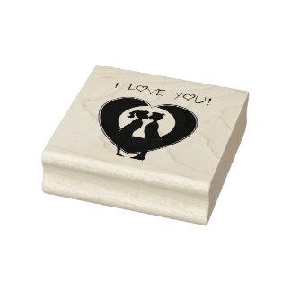 Amor de madera del arte Stamps/I usted Sello De Caucho