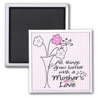 Amor de madres imán cuadrado