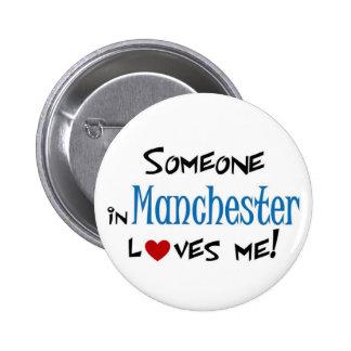 Amor de Manchester Pin Redondo De 2 Pulgadas