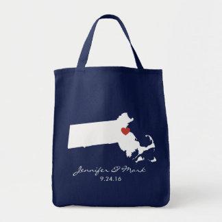 Amor de Massachusetts - personalizable Bolsa Tela Para La Compra