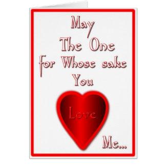 Amor de mayo Alá usted también…. Tarjeta De Felicitación