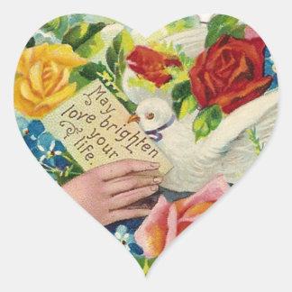 Amor de mayo… pegatina en forma de corazón