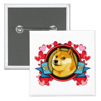 Amor de Meme del dux del personalizar con su Pin Cuadrada 5 Cm