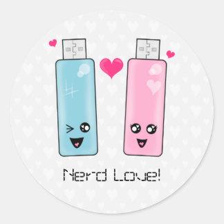 Amor de memoria USB Pegatina Redonda