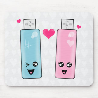 Amor de memoria USB Tapete De Ratón