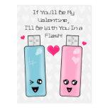 Amor de memoria USB Tarjetas Postales