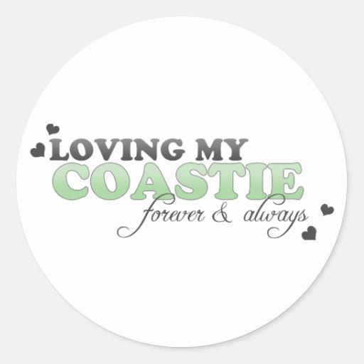 Amor de mi Coastie Pegatina Redonda