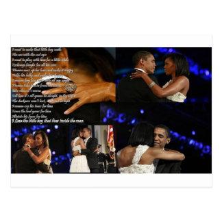 Amor de Michelle y de Barack Obama Postales