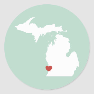 Amor de Michigan - pegatina adaptable
