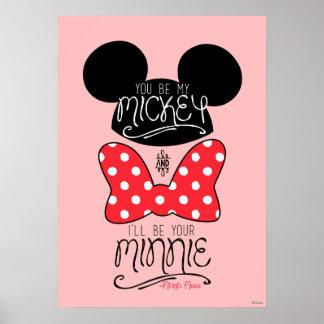 Amor de Mickey y de Minnie el | Póster