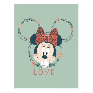 Amor de Minnie Mouse el | Tarjetas Postales