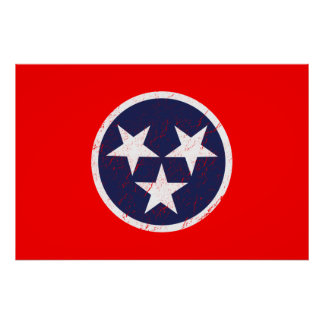 Amor de Nashville del Grunge de la bandera del est Póster
