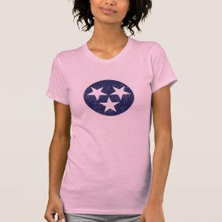 Amor de Nashville del Grunge del rosa de la bander Camisetas