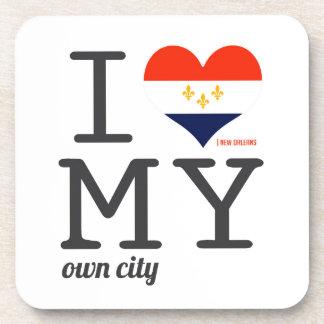 Amor de New Orleans Luisiana I mi propia ciudad Posavasos De Bebida
