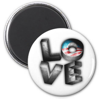 AMOR de Obama 2012 Imán Redondo 5 Cm