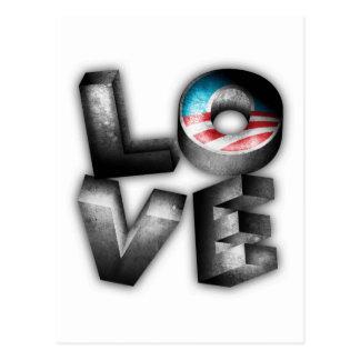 AMOR de Obama 2012 Tarjeta Postal