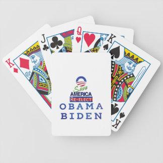 amor de obama i baraja cartas de poker