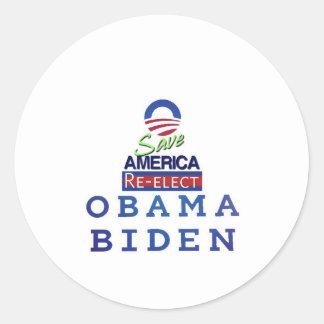 amor de obama i pegatina redonda