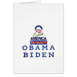 amor de obama i tarjeta de felicitación