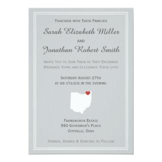 Amor de Ohio - invitación adaptable del boda