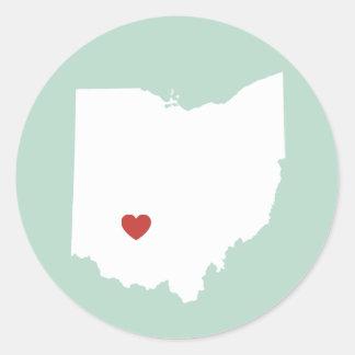 Amor de Ohio - pegatina adaptable