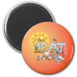 Amor de Olaf el   I el calor y la sol Imán Redondo 5 Cm