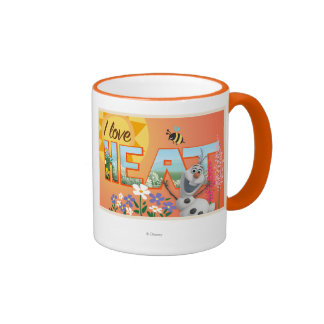 Amor de Olaf el | I el calor y la sol Taza De Dos Colores
