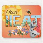 Amor de Olaf I el calor Alfombrilla De Ratón