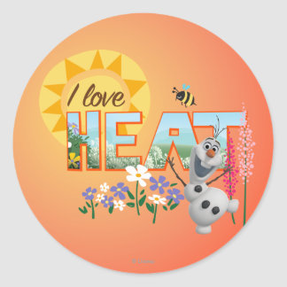 Amor de Olaf I el calor Etiquetas Redondas