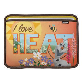 Amor de Olaf I el calor Fundas MacBook