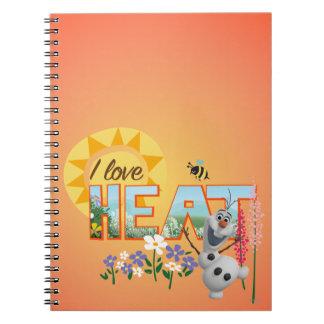 Amor de Olaf I el calor Libro De Apuntes Con Espiral