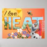 Amor de Olaf I el calor Poster
