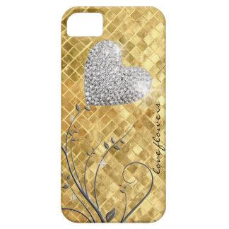 Amor de oro del corazón funda para iPhone SE/5/5s