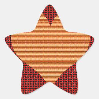 Amor de oro calcomania forma de estrella personalizadas