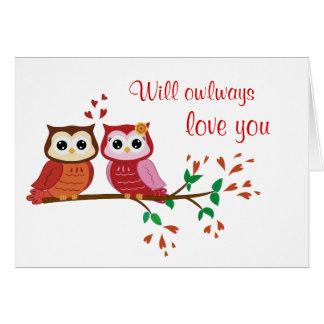 Amor de Owlways usted postal Felicitacion