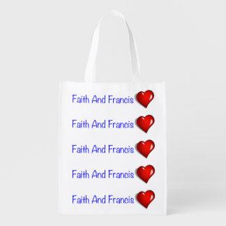 Amor de papa Francisco Papa Francisco Catholic Bolsa Reutilizable