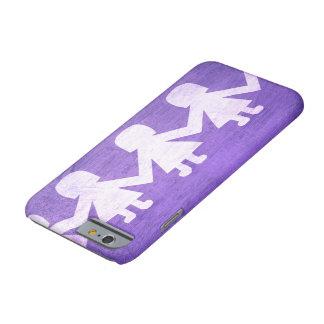 Amor de papel púrpura de la muñeca funda para iPhone 6 barely there