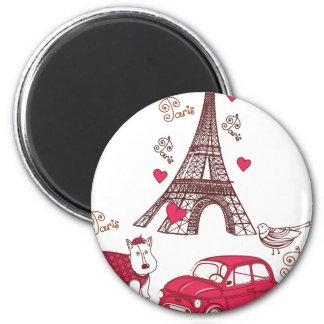 Amor de París Iman Para Frigorífico