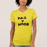 amor de paz y camiseta