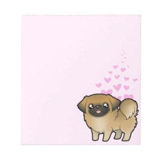 Amor de Pekingese (perrito cortado) Blocs De Notas