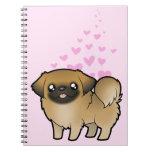 Amor de Pekingese (perrito cortado) Libro De Apuntes Con Espiral