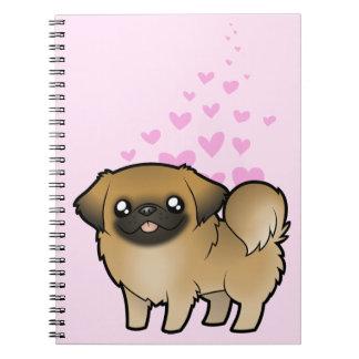Amor de Pekingese (perrito cortado) Libros De Apuntes