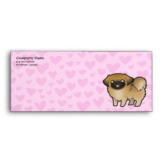 Amor de Pekingese (perrito cortado) Sobres